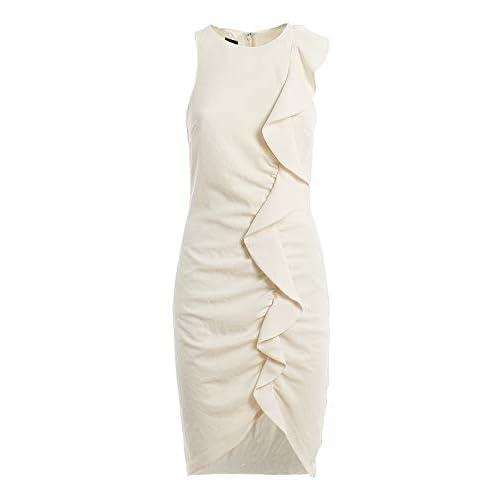 Pinko BEBYBLADE Vestito Elegante, Beige (Beige G. Maroso C03), (Taglia Unica: 40) Donna