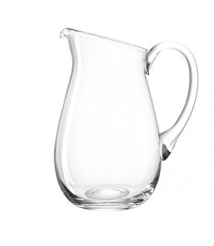 Leonardo Giardino Krug, handgefertigter Glas-Krug, spülmaschinengeeignete Wasser-Karaffe mit Henkel, 3900 ml, 010239