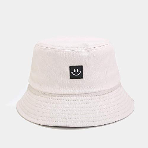 Fisherman's Hat Fisherman Hat Female Smiling Face Simple Basin Face Hat Student Casual Wild Sun Hat Tide Couple Hat 54-58Cm Beige