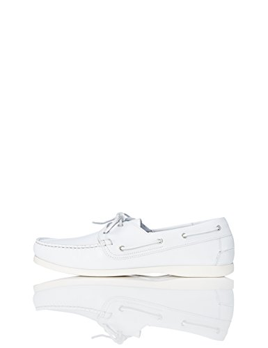 find. Iconic, Chaussures Bateau en Cuir-Homme-Blanc...