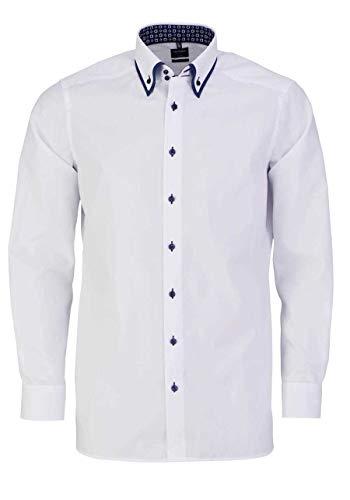 Olymp Luxor modern fit Herren Hemd Langarm Button Down Kragen weiß Größe 41