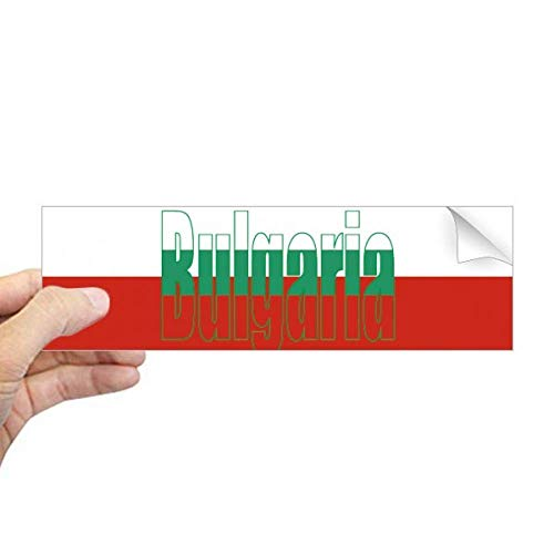 DIYthinker Bulgarije Land Vlag Naam Rechthoek Bumper Sticker Notebook Venster Sticker