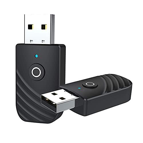 GeekerChip USB Bluetooth Adapter, 2 in 1 Bluetooth 5.0 USB Audio Receiver...