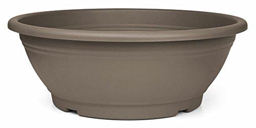 Jardinera Floralo, cuenco de 25 cm de diámetro redondo, marrón topo, 25x25x9 cm, 2.6 L, M1625-TP