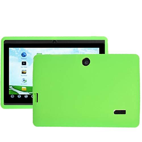 XHEVAT - Funda de silicona de color puro para tablet Q88 de 7,0 pulgadas, para S-WMC-1692B, S-WMC-1703B, S-WMC-1721W -WMC-0093, S-WMC-1703, S-WMC-0107 (rojo)