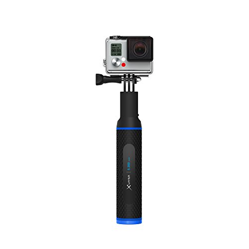 XLayer Powerbank Plus Action Cam 5.200mAh, handstatief met geïntegreerde powerbank voor Action Cams Battery Selfie Stick