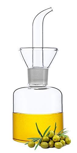 HAIZEEN 【150ml Ampolla Multiuso in Vetro, Decanter per Olio in Vetro e Ampolla per Cucina e Barbecue.