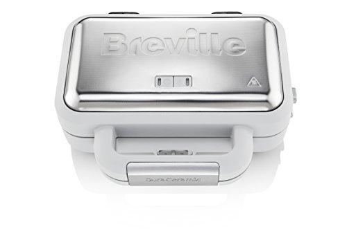 Breville VST070X Jumbo-Sandwichtoaster, 18/8 Edelstahl, Weiß