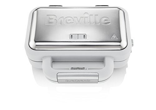 Breville Duraceramic VST070X - Sandwichera con revestimiento, platos desmontables, color gris