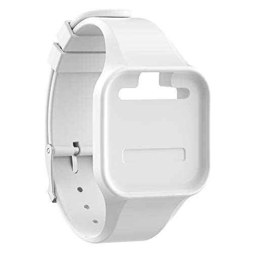 TenCloud Accessory Wristband Replacement for Voice, for Voice 2, for Voice + Golf GPS Rangefinder,Soft Silicone Band for Voice Golf Watch Series (White)