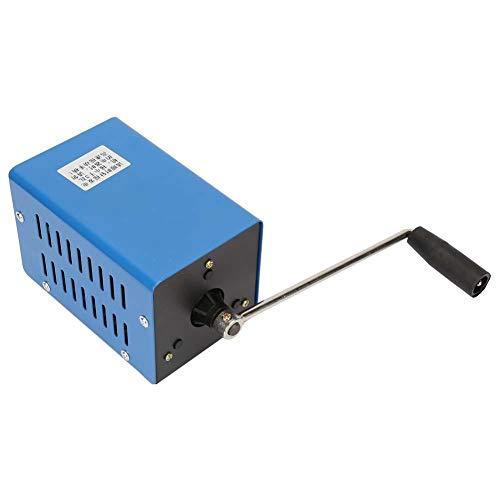 Bewinner Generador portátil de Alta Potencia de 20 W con manivela USB Generador de Carga USB Dinamómetro de Emergencia Manual Generadores al Aire Libre para Supervivencia de Camping Energía móvil