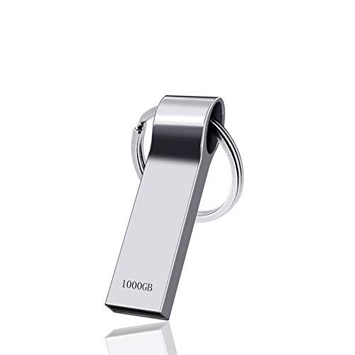 Onluck Speicherstick 1TB,USB Stick 1000GB,USB-Flash-Laufwerk zum Speichern von Foto/Video/Musik,Memory Stick USB 3.0 kompatibel mit Computer/Laptop,Externes Datenspeicherlaufwerk mit Schlüsselbund