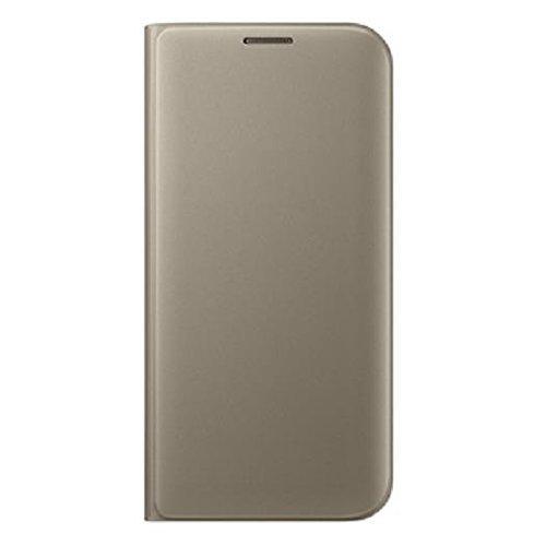 Samsung Flip Wallet Schutzhülle (geeignet für Galaxy S7 edge) gold