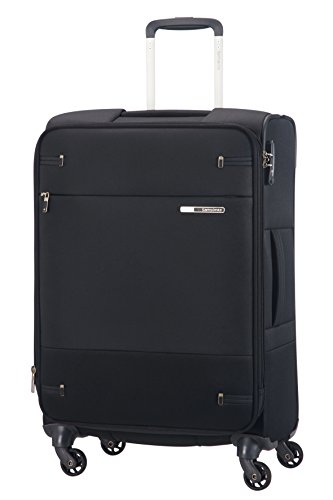 Samsonite Base Boost Spinner M Valigia Espandibile, 66 cm, 67.5/73.5 L, Nero (Black)