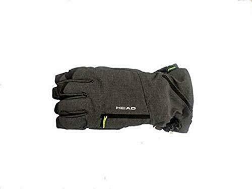 HEAD Unisex Men Women Snow Ski Winter DuPont Sorona Insulated Ski Gloves w/Heat Pocket (Grey, L)