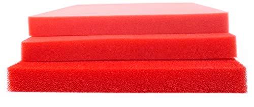Pondlife Teich - Filterschaum/Filtermatte rot Red-Premium Größe 50 x 50 x 5 cm PPI 10 grob
