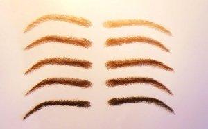 Set semi-permanente Augenbrauen, 100% Echthaar zum Aufkleben - handgemacht, mit Kleber und Pinzette Farbe hellbraun