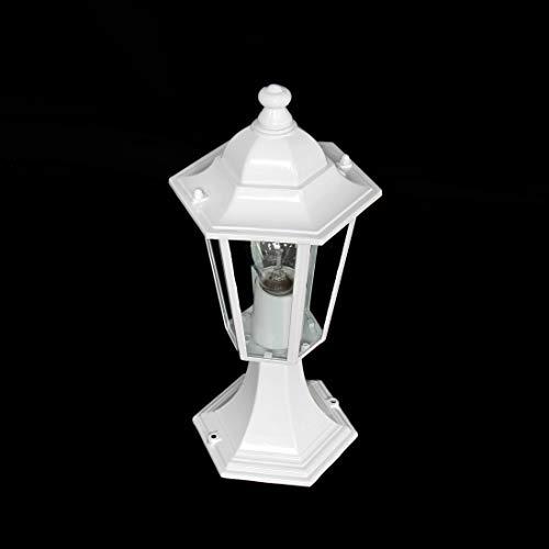 Luminaire Petit Lampadaire Extérieur Lanterne De Jardin Classique Lampe Sur Pied IP43 Blanc 2/2/801