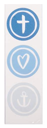 Rayher 31615376 Wachsmotiv Glaube Liebe Hoffnung, royalblau, 9,5 x 3 cm, 1 Stück, zum Gestalten von Kerzen (Firmung, Konfirmation, Taufe, Hochzeit etc.)