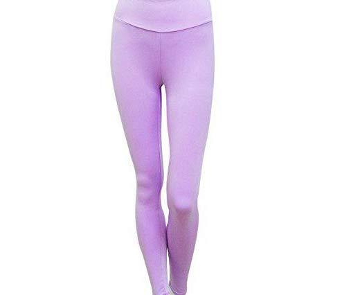 Justwide Leggings De Entrenamiento De Moda para Mujer Fitness Sports Gym Running Yoga Pantalones AtléTicos(PúRpura,XL)