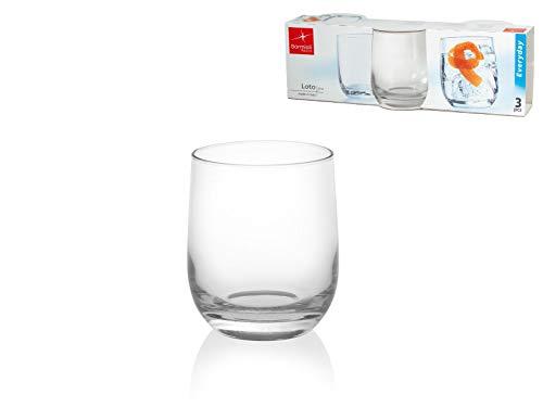 Bormioli Rocco 340650Q01021990 Bicchieri da acqua Loto, 3 pezzi