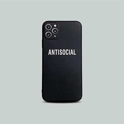 Wyalm Marca de Moda Caliente Vetementse Carta de la Carta del teléfono para iPhone 12 11 Pro X XR XR XS MAX 7 8 Plus Ninguna Cubierta DE SILICÓN Suave (Color : 2, Size : Iphone12 Mini)