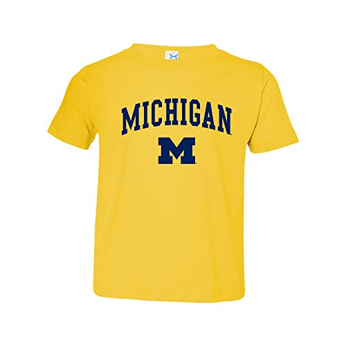 TS03 - Michigan Wolverines Arch Logo Toddler T Shirt - 4T - Yellow