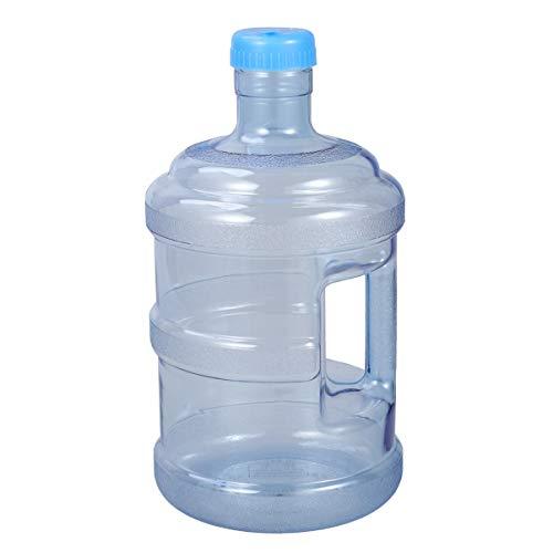 Wakauto Borraccia da 5 litri, 5 litri, colore blu, bottiglia per acqua minerale, 5 litri, con maniglia, per palestra, fitness, attività all'aperto