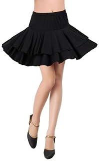 【STARREED ®】社交ダンス フレアスカート ミニ スカート ラテン ニ段 ブラック 練習 レッスン デモ