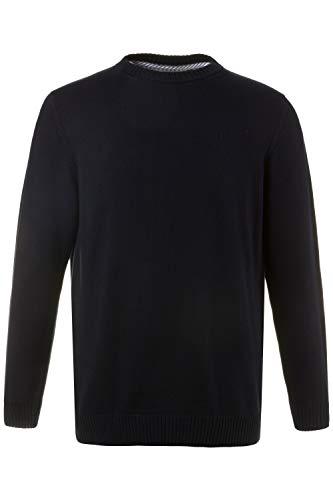JP 1880 Herren große Größen bis 7XL, Pullover, Sweatshirt aus Strick, JP1880-Stick, Reine Baumwolle, Navy XL 708261 70-XL