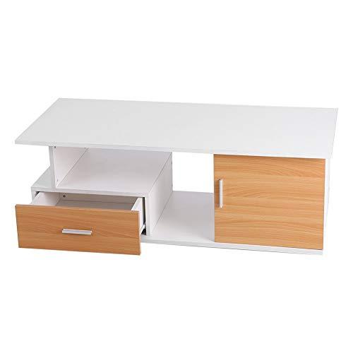 Cocoarm, moderne tv-kast, hangkast, woonkamer, lowboard, televisietafel, wit, tafel, meubels, 110 × 38 × 50 cm