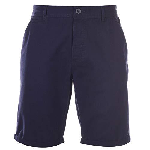 Kangol Herren Chino Shorts Sporthose GUertelschlaufen Taschen Freizeit Kurze Hose Blau XXXL