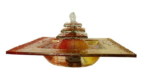 Atelier Klotz Zimmerbrunnen Glas Kaskade Wasserspiel Handarbeit