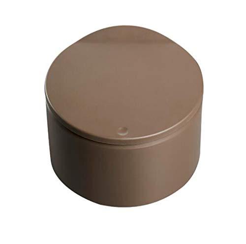 LQ&XL Bote de Basura plástico con una Tapa de,Cubo de Basura Redondo Papelera Cubo de Basura para el hogar Sala de Estar Cuarto de baño Cocina/brown