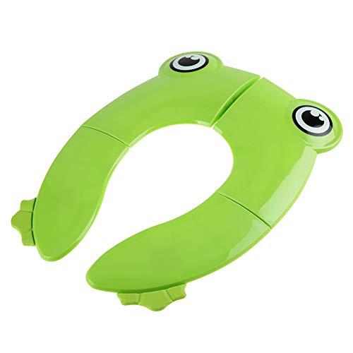 Cuscino per vasino Portatile Durevole Non tossico, Comodo da Usare, Cuscino per WC per Bambini, Asilo per(Green, Frog)