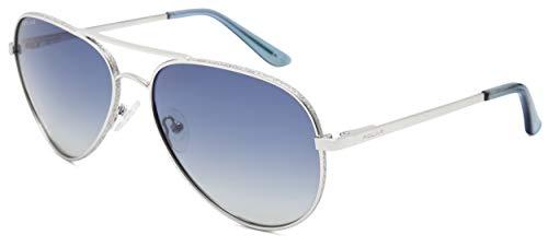 Polar sonnenbrille Diamond Damen Aviatorpolarisiertes Silber mit blauer Linse (p664dia12/A)