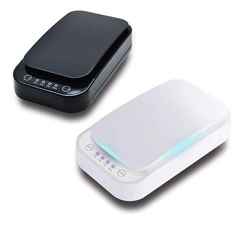 Esterilizador UV para móviles, Desinfectante para móviles con luz ultravioleta, esterilizador portátil para móviles, carebox, auriculares, llaves, función de aromaterapia para desinfectar el teléfono.