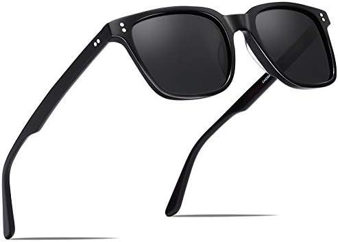 Carfia Chic Retro Polarized Sunglasses for Women Men UV400 Protection Hand Polished Acetate product image
