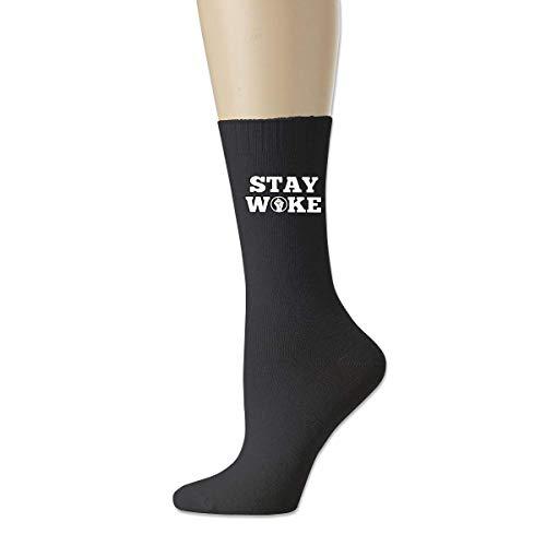 BEDKKJY Stay Woke Herren Casual Baumwollsocken Crazy Crew Socks Dress Socks