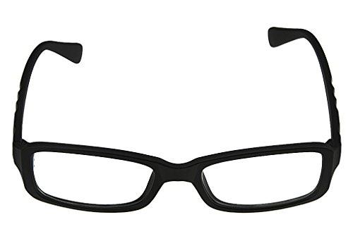Unisex Nerd Brille Ohne Stärke Lesebrille Sonnenbrille Streberbrille Anti Müdigkeit Computer Brille klare Linse 100% UV Schutz Brille