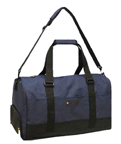 JCB Holdall for Men with Shoulder Strap, Carry Handles and Shoe/Boot Compartment (Navy Blue)