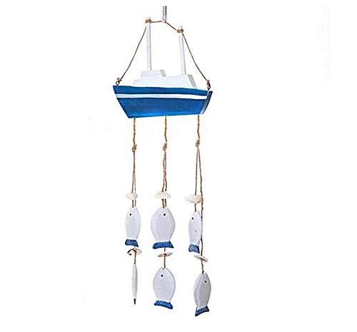 SD&EY Mediterrane Ocean Wind Chime hangertje startspagina ornamenten geschenken van hout Crafts schelpen Conch gordijn decoratie venster hangend