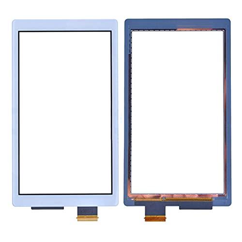Reemplazo de Vidrio de Pantalla de digitalizador de Panel táctil Compatible con la Consola Nintendo Switch Lite (no Incluye LCD) Blanco