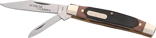 Old Timer 33OT Middleman Jack 5.7in S.S. Traditional Folding Knife with 2.4in Clip Point Blade and Sawcut Handle for Outdoor, Hunting, Camping and EDC