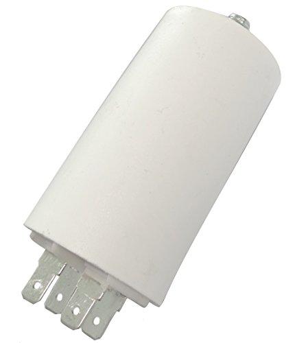 Aerzetix: Permanenter Arbeitskondensator für Motor 16μF 450V mit Laschen Ø40x70mm ± 5% 3000h C18683