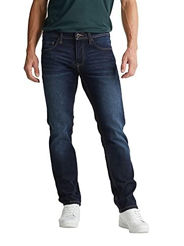 Esprit Herren 999EE2B803 Straight Jeans, 901/BLUE Dark WASH 06, 36W / 34L