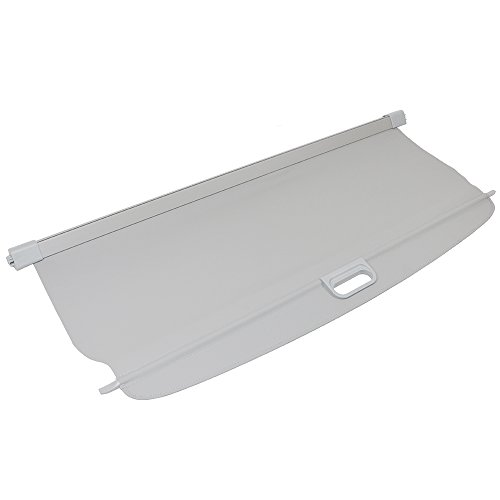 Cargo Cover Compatible With 2006-2011 Benz ML Class, Grey PU Tonneau Cover Retractable By IKON MOTORSPORTS, 2007 2008 2009 2010