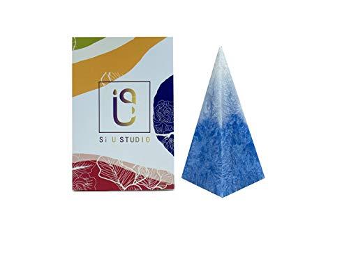Si U Studio - Vela perfumada con forma de Iceberg natural, exquisita y única; la forma del iceberg es adecuada para cualquier ocasión. Caja de regalo (azul)