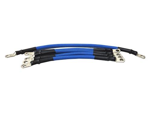 4 Gauge Golf Cart Battery Cable Set, (Blue) E-Z-GO 1994 & UP MED/TXT 36V U.S.A Made