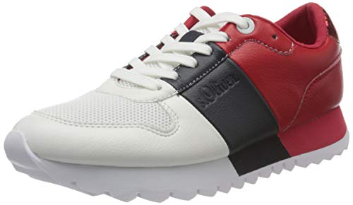 s.Oliver Damen 5-5-23662-24 Sneaker, Weiß (White Comb. 110), 41